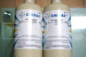List of available calibration gas for Gas detector
