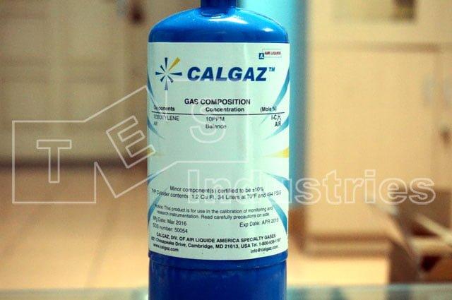 Chai khí chuẩn Calgaz 7HP, Iso-Butylen I-C4H8 10ppm