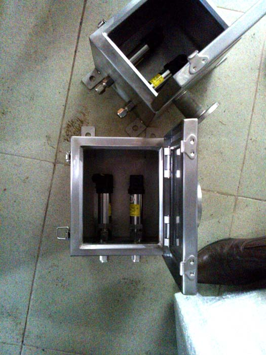 Cargo tunnel pressure sensors and protective boxes