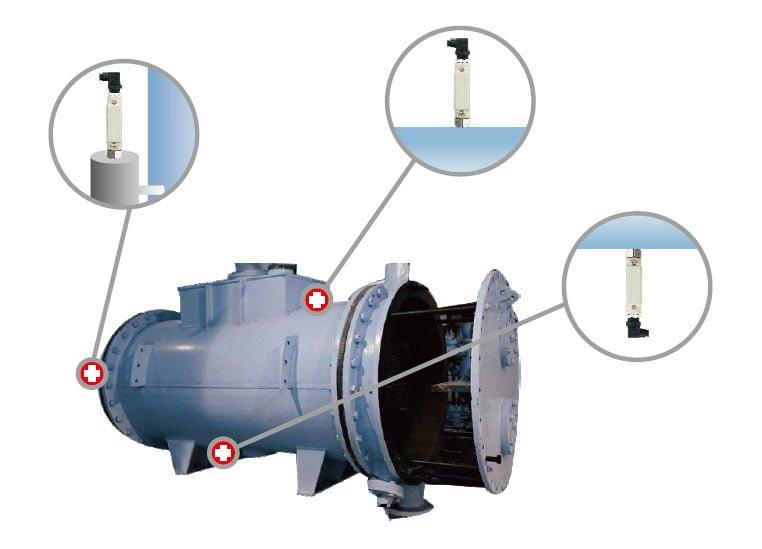 Cảm biến báo mức nhỏ gọn, không cần bảo trì dùng cho HVAC