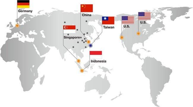 Mạng lưới bán hàng và hỗ trợ kỹ thuật của Finetek trên toàn thế giới