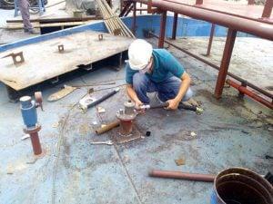 Bàn giao và lắp đặt hệ thống cảnh báo mức 95, 98% tàu Hải Nam