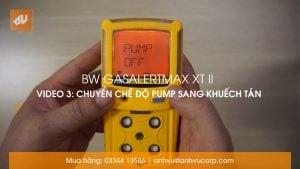 No.3 – Chế độ đo Bơm hút và Khuếch tán GasAlertMax XT II