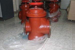 Oil tanker breathing valves installed on pipes