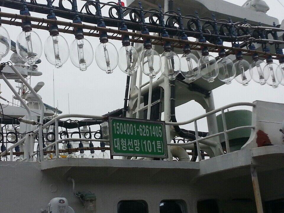 Bóng đèn câu mực trên tàu Hàn Quốc