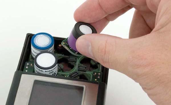 Hình ảnh cảm biến lắp bên trong máy đo khí độc MX6 iBrid