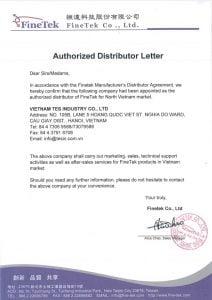 Ủy quyền đại lý của Finetek cho TES Industry