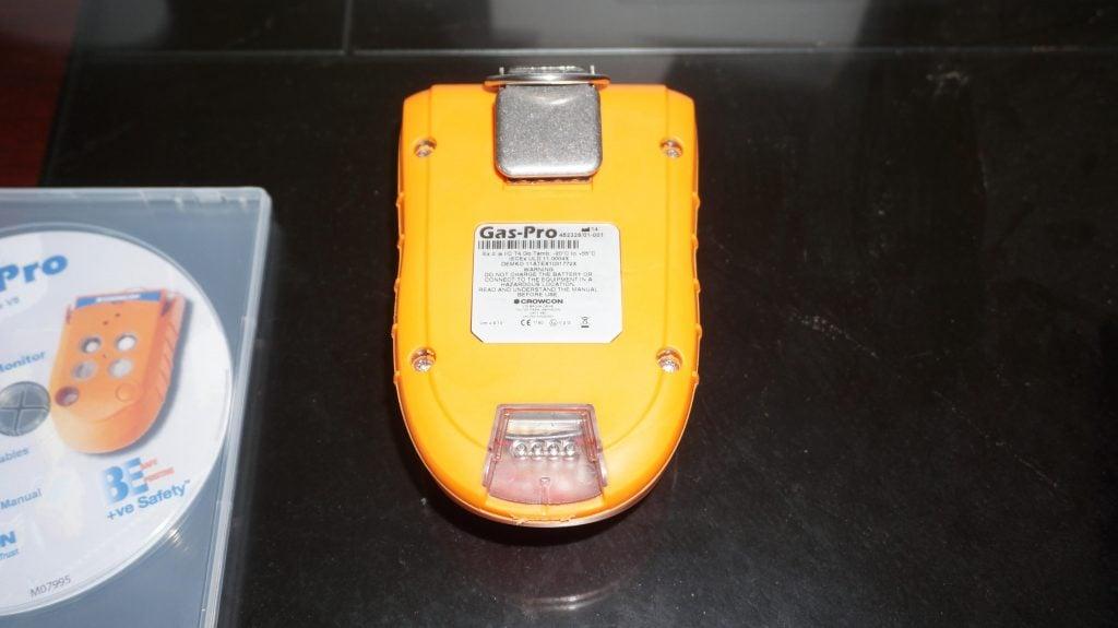 Mặt sau Máy đo khí Crowcon Gas-Pro