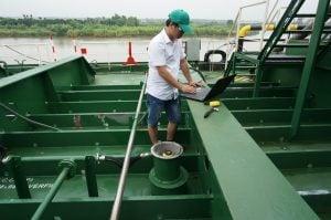Triển khai hệ thống báo mức Radar hầm hàng tàu dầu 13.500DWT