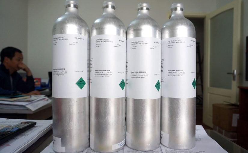 Chai khí chuẩn NH3 hiệu chuẩn máy đo khí Ammonia