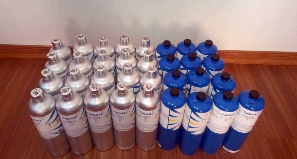 Chai khí chuẩn hiệu chuẩn máy đo khí độc