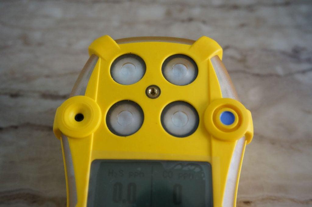 Vị trí cảm biến máy đo khí GasAlertQuattro