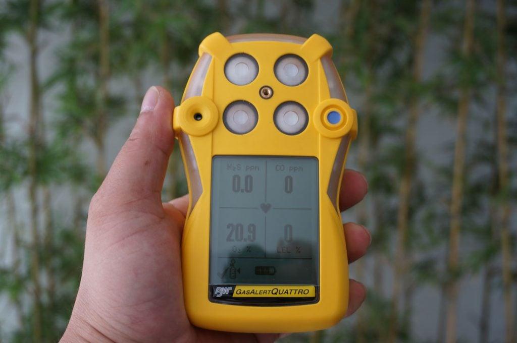 Màn hình đo trên máy GasAlertQuattro