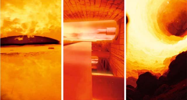 Hình ảnh trong lò nhiệt thu được từ Camera lò