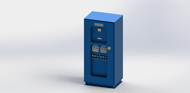 Vessel ballast water processor power block