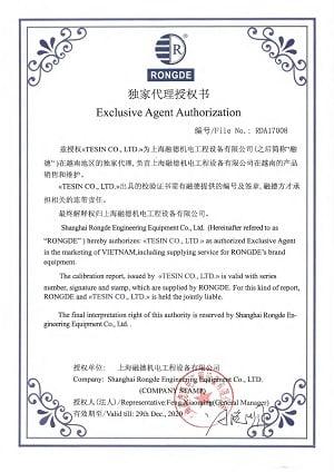 Uy quyen Ban hang cua Shanghai Rongde