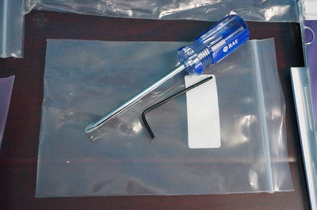 Tools included with VOC MiniRAE 3000