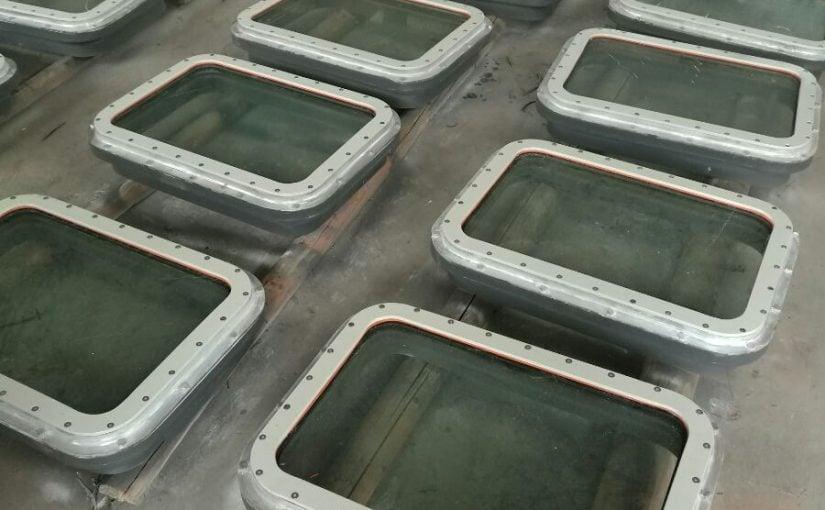 Cửa sổ chống cháy cấp A60 dùng cho tàu dầu / hoá chất