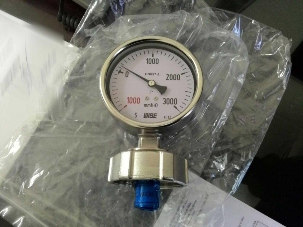 Đồng hồ đo khí trơ hầm hàng dải đo 0-3000mmH2O