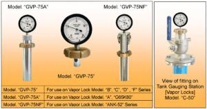 Đồng hồ áp suất khí trơ hầm hàng MMC Japan