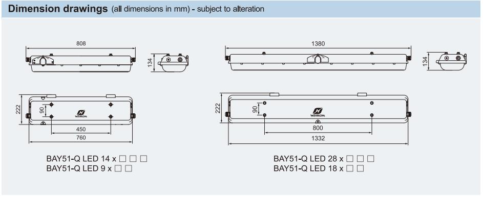 Bản vẽ kỹ thuật hình dáng của đèn