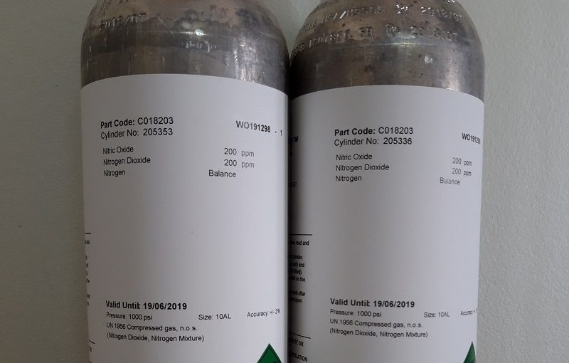 Bộ bình khí hiệu chuẩn máy đo khí thải TESTO