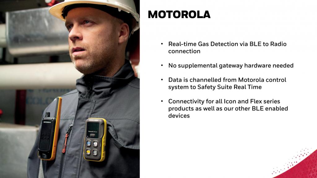 30. Combination of signals and alarms between gas detectors and Motorola walkie-talkies